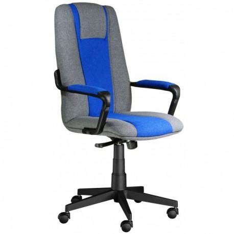 Kancelářská židle KLASIK MERLI šedá modrá
